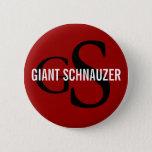 Giant Schnauzer Breed Monogram Button