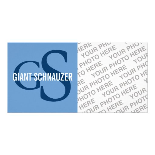Giant Schnauzer Breed Monogram Picture Card