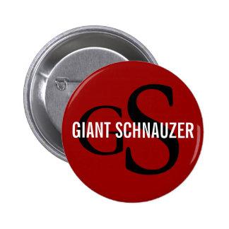 Giant Schnauzer Breed Monogram Pinback Buttons