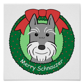 Giant Schnauzer Christmas Poster