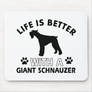 Giant Schnauzer designs Mouse Pad