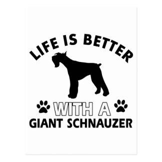 Giant Schnauzer designs Postcard
