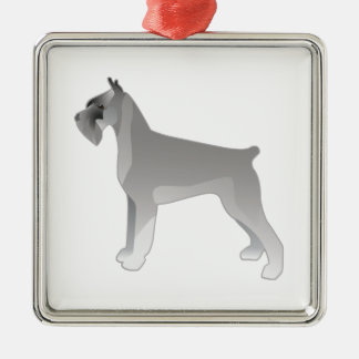 Giant Schnauzer Dog Breed Illustration Silhouette Metal Ornament