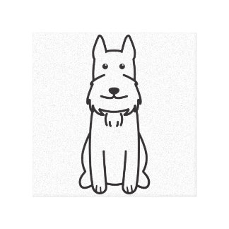 Giant Schnauzer Dog Cartoon Gallery Wrapped Canvas
