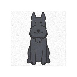Giant Schnauzer Dog Cartoon Canvas Prints
