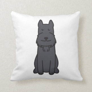 Giant Schnauzer Dog Cartoon Throw Pillow