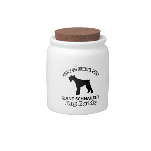 Giant Schnauzer Dog Daddy Candy Dish