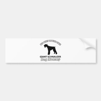Giant Schnauzer  dog designs Bumper Sticker
