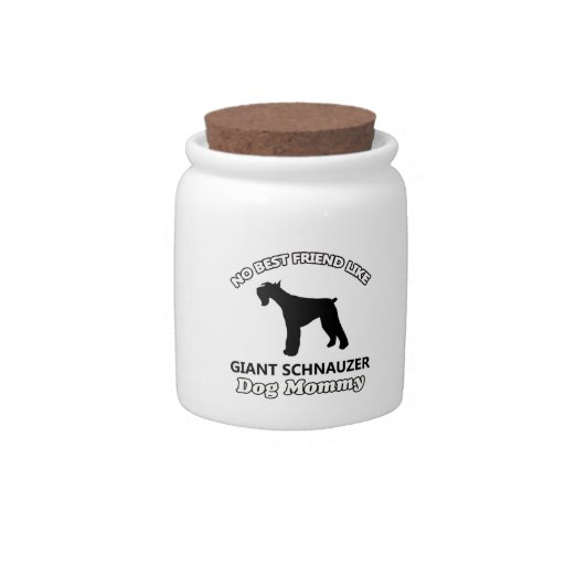 Giant Schnauzer  dog designs Candy Jar