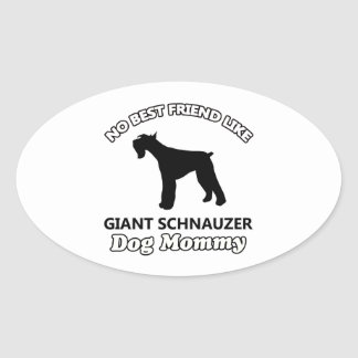 Giant Schnauzer  dog designs Oval Sticker