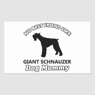 Giant Schnauzer  dog designs Rectangular Sticker