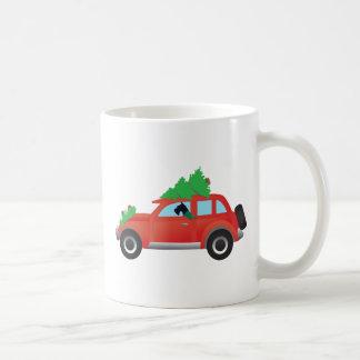 Giant Schnauzer Driving a Car - tree on top Coffee Mug