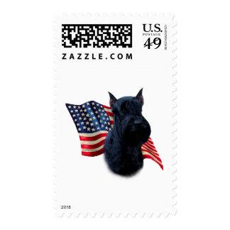 Giant Schnauzer Flag Postage Stamp