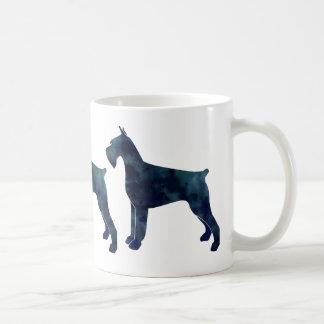 Giant Schnauzer Geometric Pattern Silhouette Coffee Mug