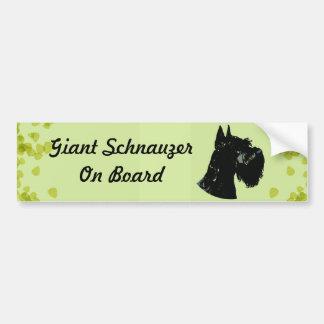 Giant Schnauzer ~ Green Leaves Design Bumper Sticker