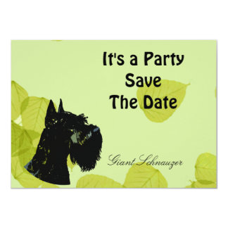Giant Schnauzer ~ Green Leaves Design Card