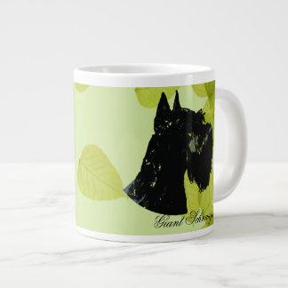Giant Schnauzer ~ Green Leaves Design Giant Coffee Mug