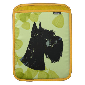 Giant Schnauzer ~ Green Leaves Design Sleeve For iPads