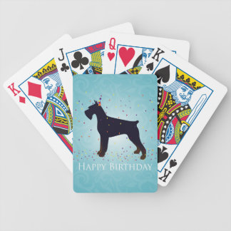 Giant Schnauzer Happy Birthday Design Bicycle Playing Cards
