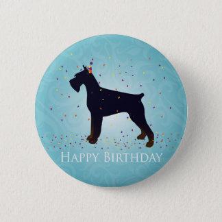 Giant Schnauzer Happy Birthday Design Button