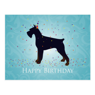 Giant Schnauzer Happy Birthday Design Postcard