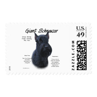 Giant Schnauzer History Design Stamps