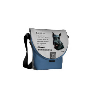 Giant Schnauzer Love Is Gifts Courier Bag