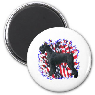 Giant Schnauzer Patriot Fridge Magnet