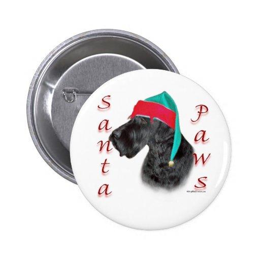 Giant Schnauzer Santa Paws 2 Inch Round Button