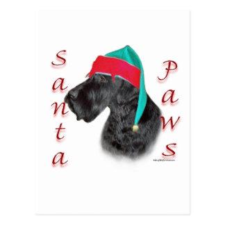 Giant Schnauzer Santa Paws Postcard