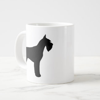 Giant Schnauzer Silhouettes Large Coffee Mug