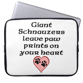 Giant Schnauzers Leave Paw Prints On Your Heart Laptop Computer Sleeves