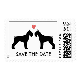 Giant Schnauzers Wedding Save the Date Postage
