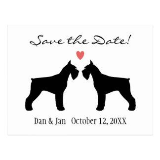 Giant Schnauzers Wedding Save the Date Postcard