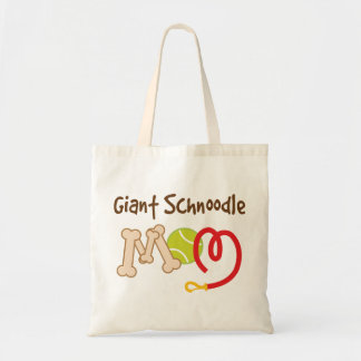 Giant Schnoodle Dog Breed Mom Gift Tote Bag