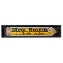 Giant School Pencil | Teacher |DIY Text Name Plate