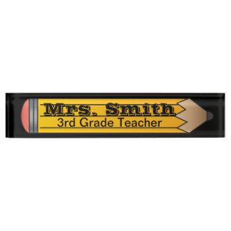 Giant School Pencil   Teacher Desk Nameplates