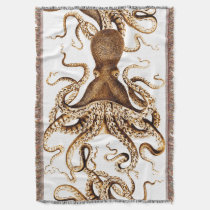 Giant Sea Squid Cozy Throw