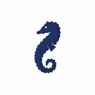 Giant Seahorse Embroidered Polo Shirt