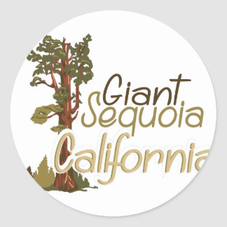 Giant Sequoia Classic Round Sticker