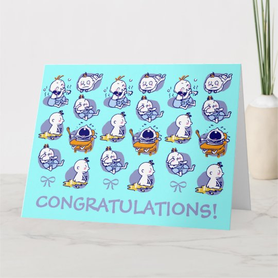 giant size card congratulations new baby boy