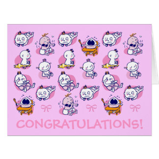 giant size card congratulations new baby girl