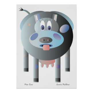 GIANT SIZED MOO COW POSTER FROM JIM MALTESE