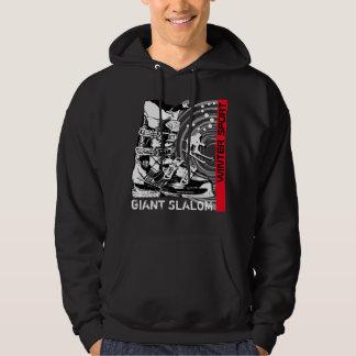 Giant Slalom Winter Sport Ski Boot Sweatshirt