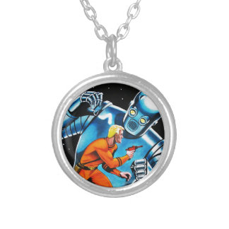 GIANT SLAYER SILVER PLATED NECKLACE