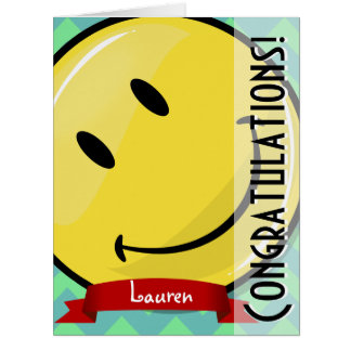 Giant Smiling Congratulations Big Greeeting Card