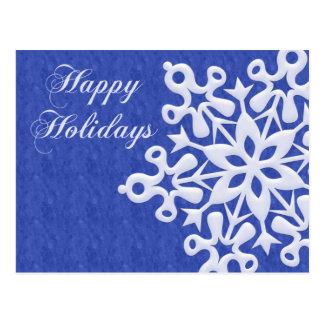 Giant Snowflake Christmas Holiday Postcar Post Cards