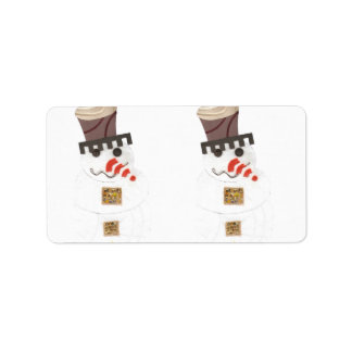 Giant Snowman Address Labels