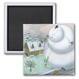 Giant Snowman Magnet