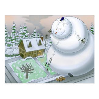 Giant Snowman Postcard